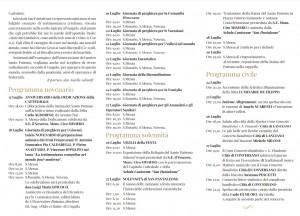 Programma Festa San Pantaleone